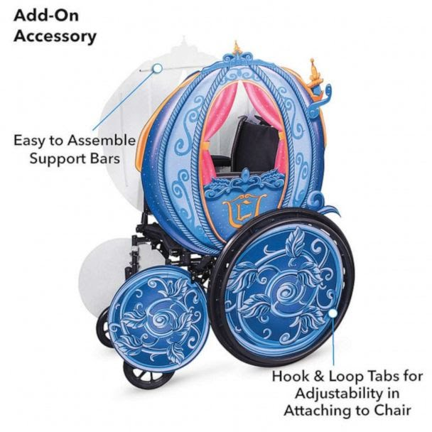 PHOTO: Cinderella's Coach Wheelchair Cover Set by Disguise